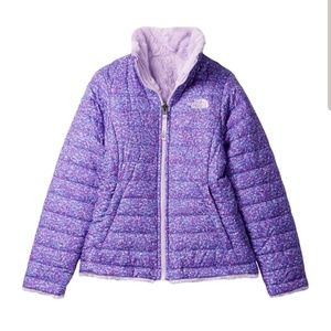 The north face purple reversible jacket